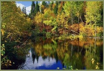 Wanderreiten im Herbst